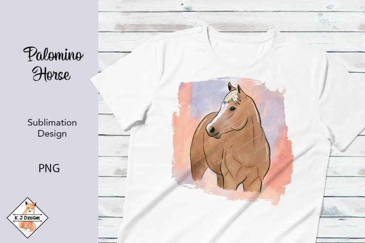 Palomino Horse Sublimation