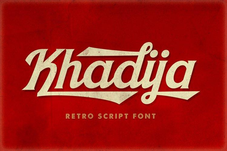 Khadija Script - 4 Fonts example