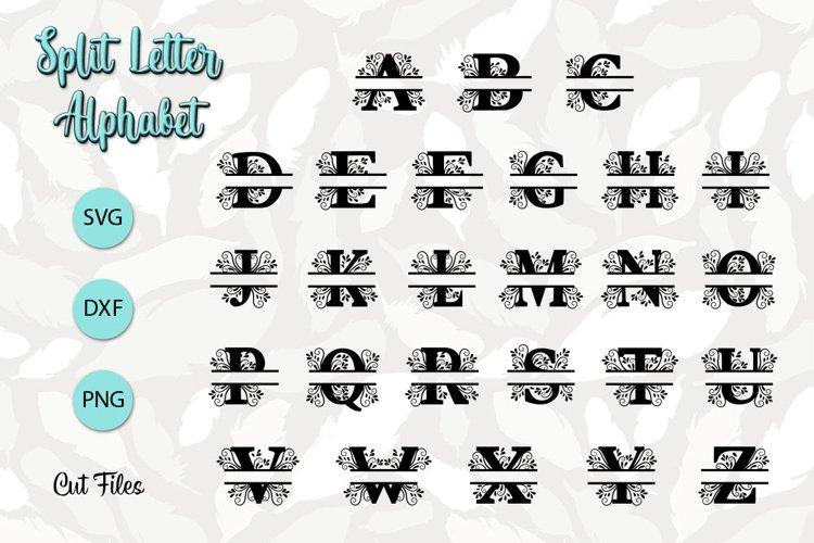 Split Letter Alphabet - SVG Cut Files