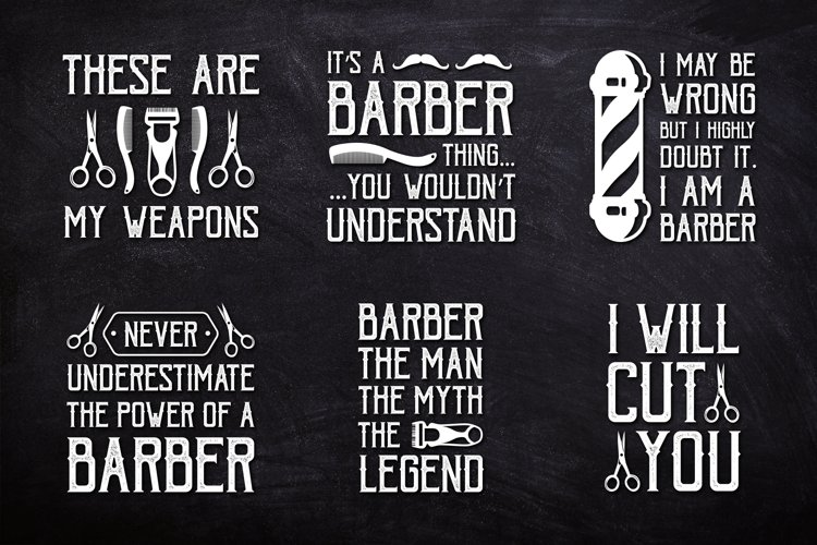 Barber Quote good for T-Shirt or Instagram Post