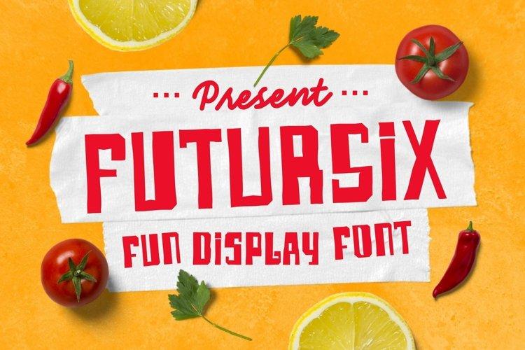 Web Font Futursix example image 1