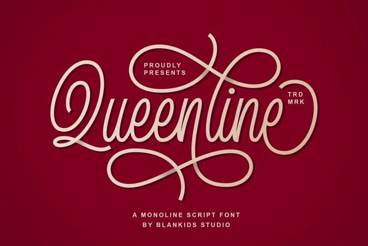 Queenline Script example image 1