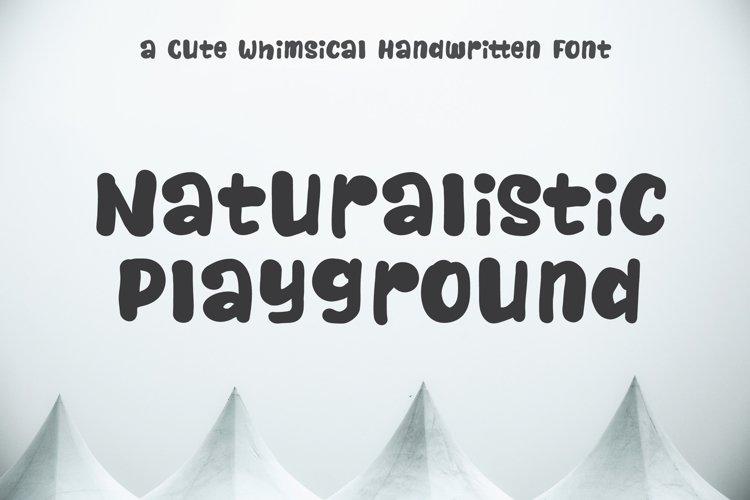 Naturalistic Playground | Cute Handwriting example image 1