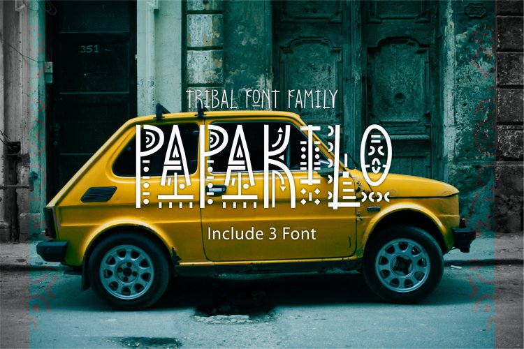 PapaKilo - Tribal Font Family example image 1