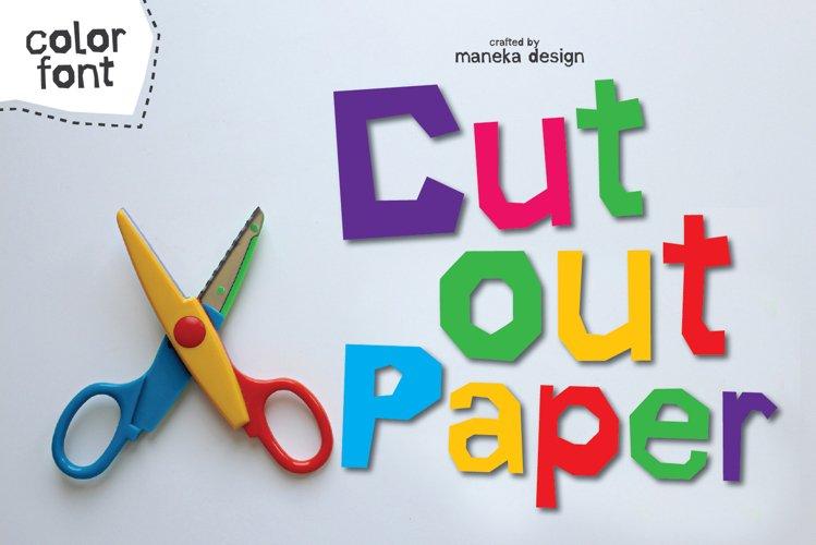 Cut Out Paper | Color Font example image 1