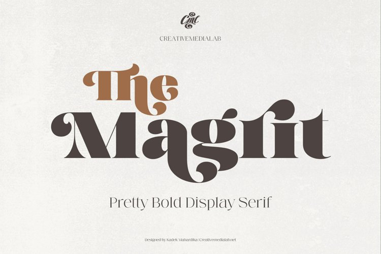 Magrit - Pretty bold display serif example image 1