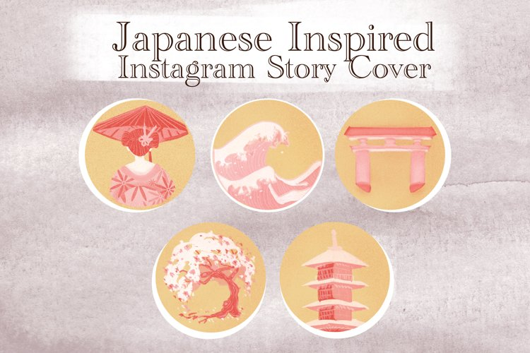 Japanese Spring instagram stories Highlights example image 1