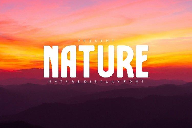 Web Font Nature Font example image 1