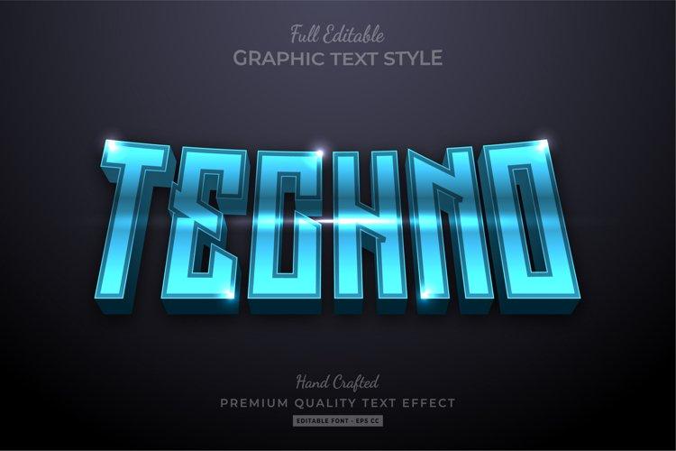 Techno Futuristic Editable Text Effect Font Style example image 1