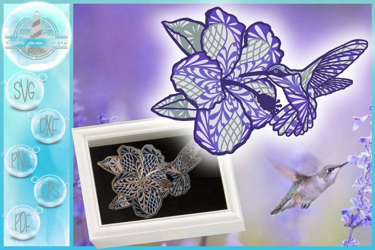 3D SVG Layered Design   3D Hummingbird Mandala   3D Mandala