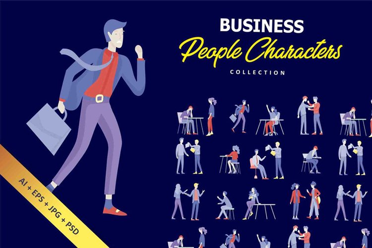 Business people characters example image 1