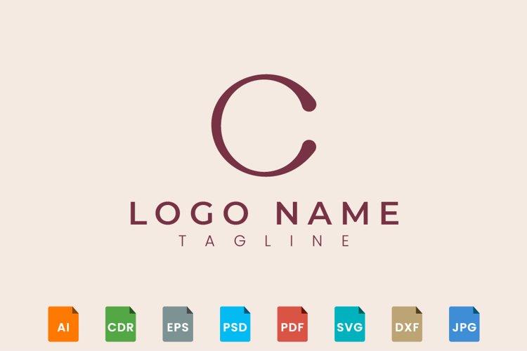 Initial monogram logo design letter C example image 1