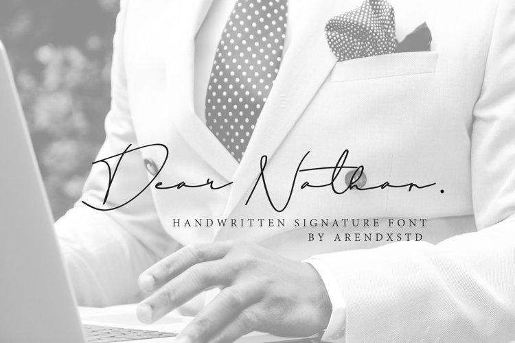 Dear Natha Handwritten Signature