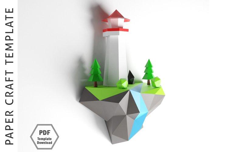 Island Papercraft / Paper craft / 3D Papercraft example image 1