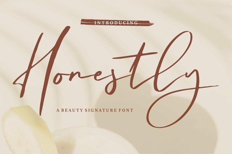 Web Font Honestly - A Beauty Signature Font
