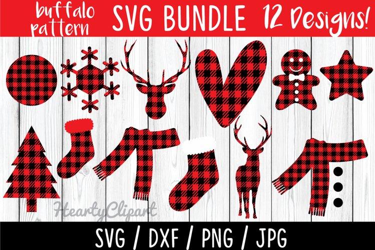 Buffalo pattern svg bundle, layered files