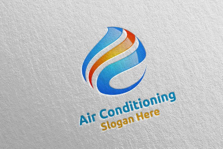 Air Conditioning and Heating Services Logo 1 example image 1