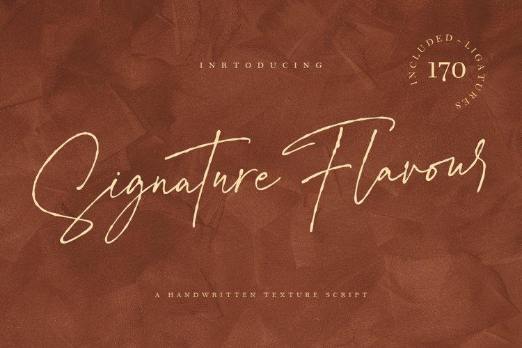 Signature Flavour | Handwritten Font example image 1