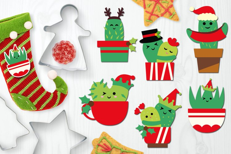 Cute Christmas Cactus Graphics example image 1