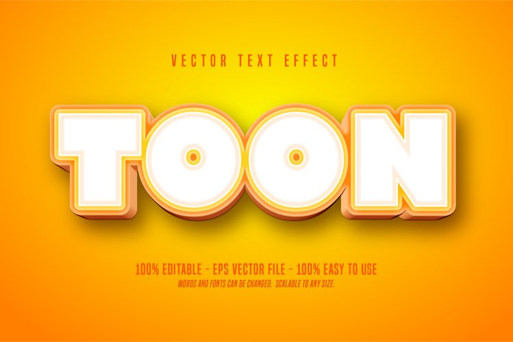 toon text, cartoon style editable text effect example image 1