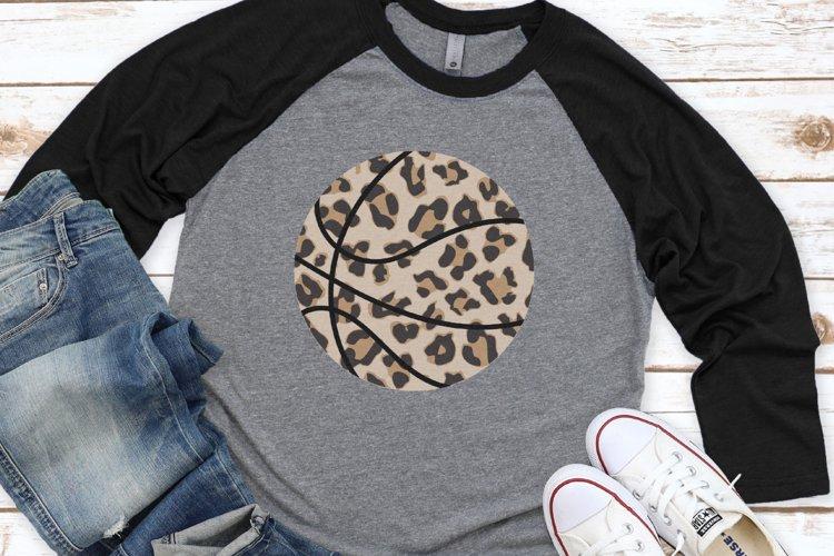 Basketball Mom - Biggest Fan - Leopard Basketball SVG example image 1