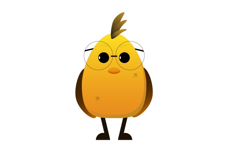 Cute chicken vector illustration, Easter chicken