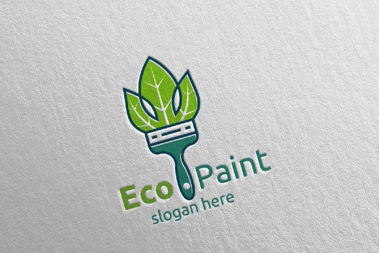 Eco Painting Logo Design example image 1