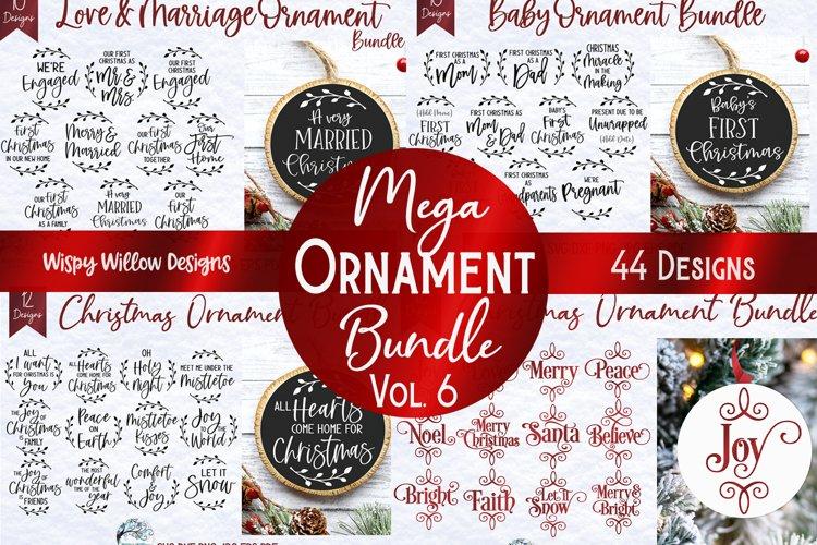 Mega Christmas Ornament SVG Bundle 6 | Round Christmas SVGs example image 1