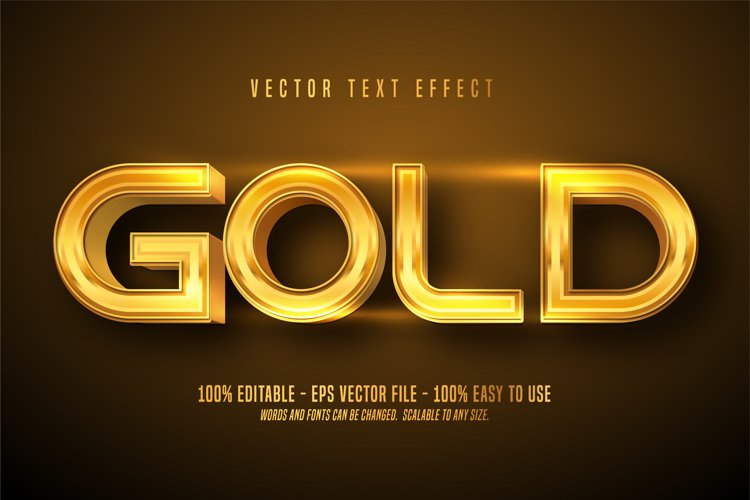 Gold editable text effect example image 1