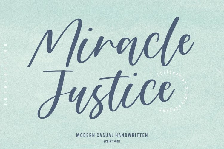 Miracle Justice Modern Casual Handwritten Script Font example image 1