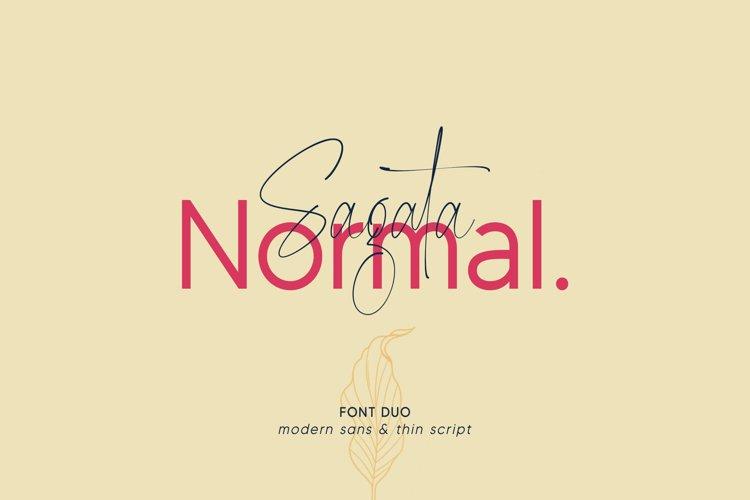 Sagata Normal Font Duo