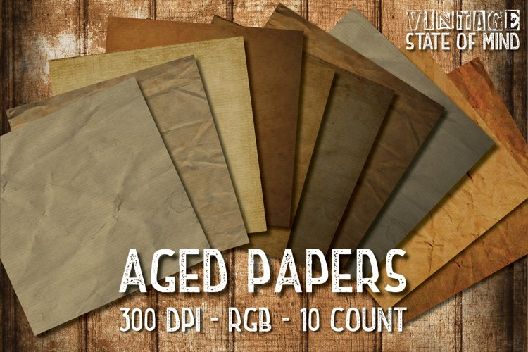 Aged Papers Digital Papers example image 1