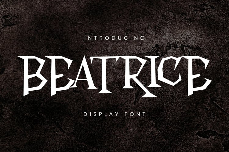 Web Font Beatrice Font example image 1