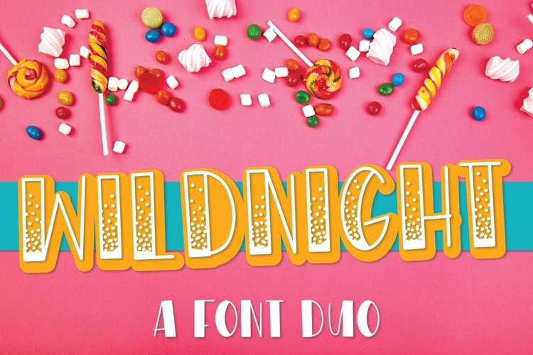 Web Font WildNight - A Hand Lettered Shimmery Font Duo example image 1