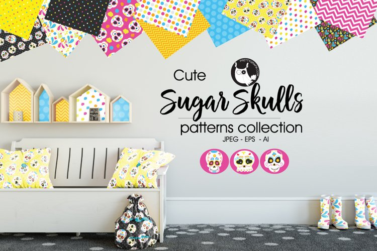 sugar-skulls, digital papers