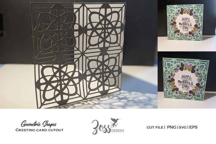 Geometric shape cut out, greeting card svg design cut file