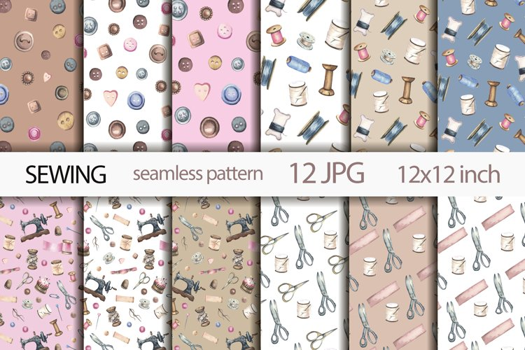 Seamless Sewing Patterns. example image 1