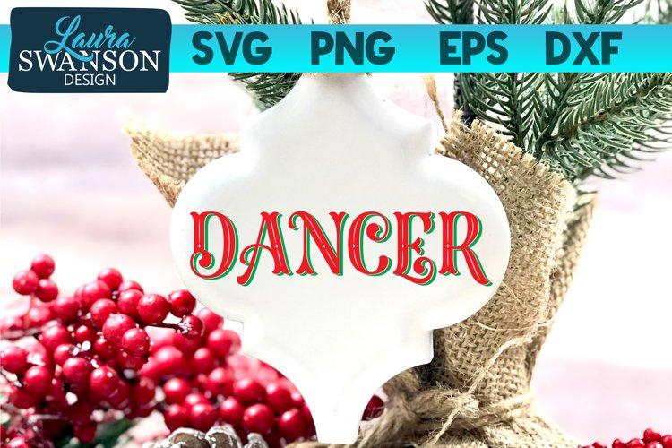 Reindeer Dancer SVG | Christmas Ornament SVG