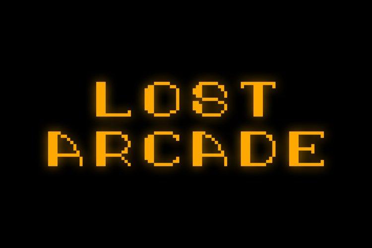 Lost Arcade Sans Adorn Black