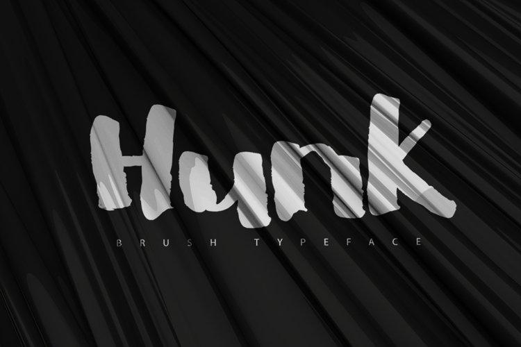 HUNK Brush Typeface example image 1