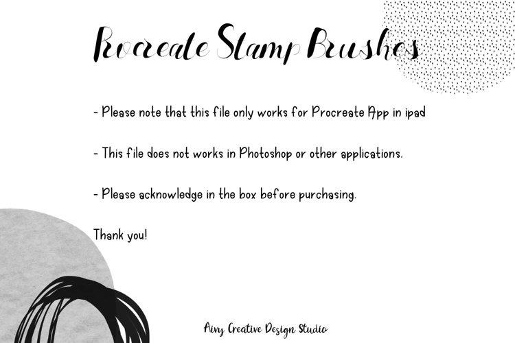Procreate Fun Shape Stamp Brushes Set example 1