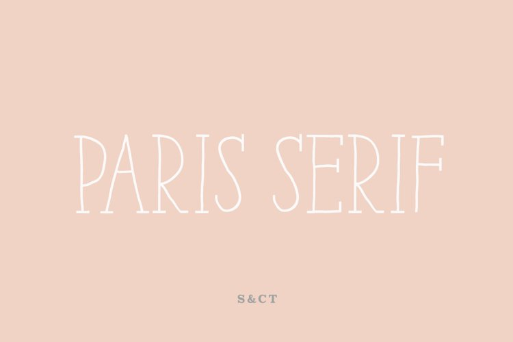 Paris Serif Family example image 1