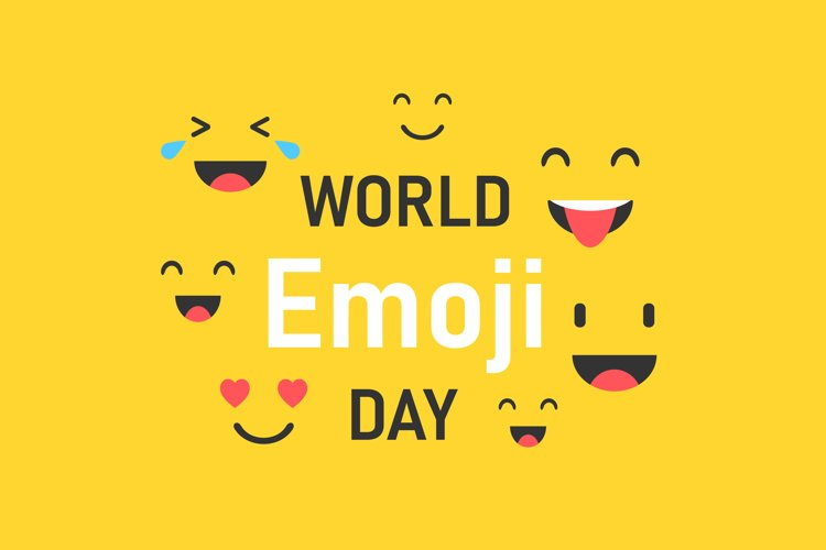 World Emoji Day template on yellow background example image 1