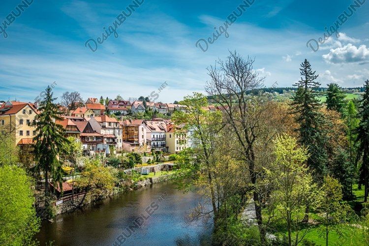 Medieval houses anf ancient european town example image 1