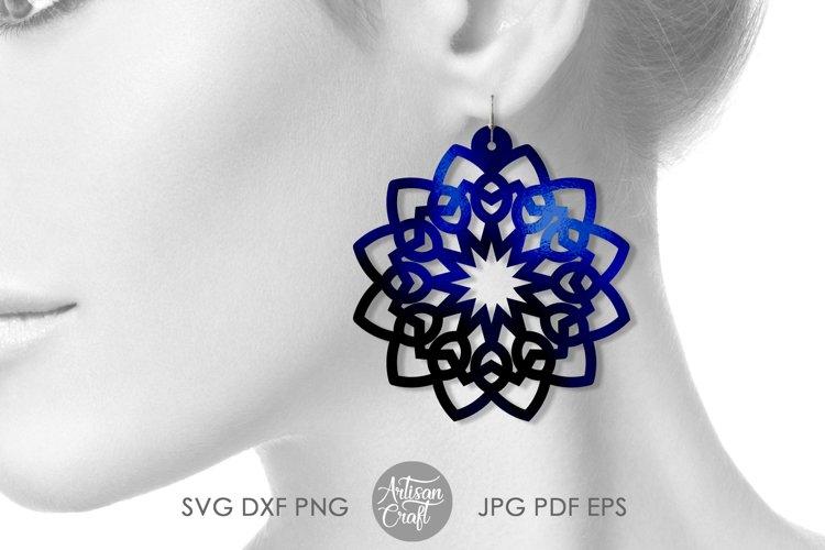 Mandala earring svg, earring template, faux leather earrings example 4