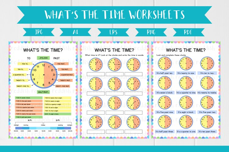 What's the time English Pages,A4 size, resources for teacher example image 1