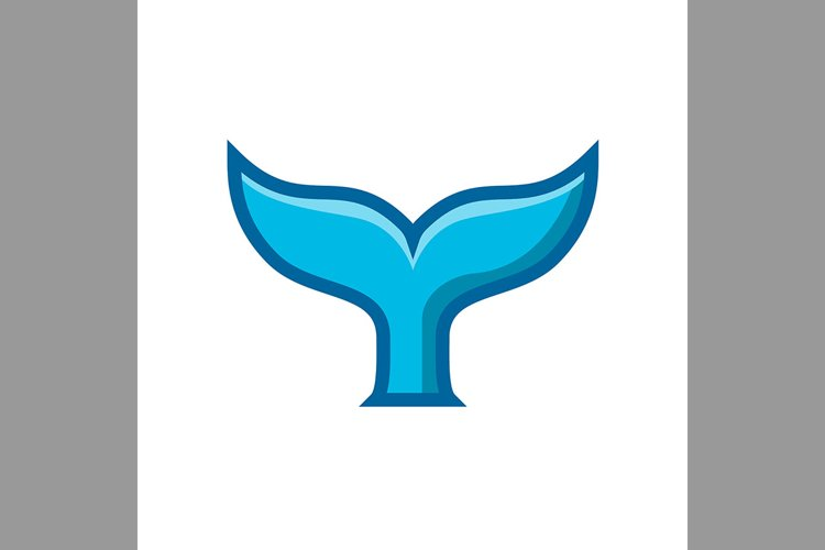 whale tail symbol blue color, Vector Illustration example image 1