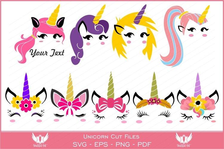 Unicorn svg, unicorn face svg, licorne, unicorn face clipart - Free Design of The Week Font