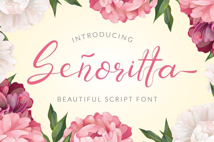 Senoritta - Beautiful Script Font example image 1