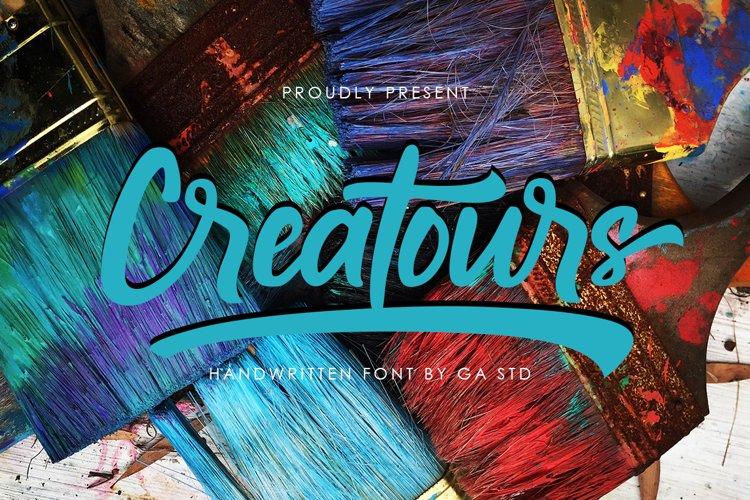 Creatours - Handwritten Font example image 1